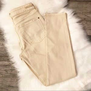 Anthropologie Pilcro Stet Jeans in Ivory